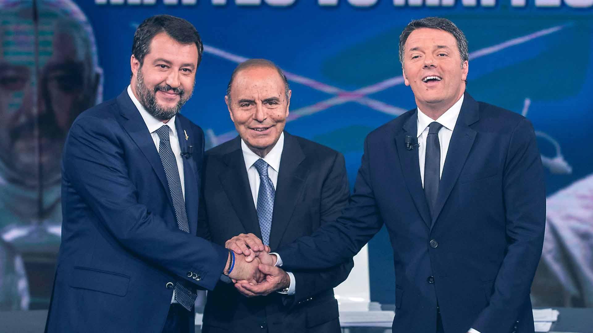 Avversari e non nemici è stato il mantra della serata, in particolare di Renzi