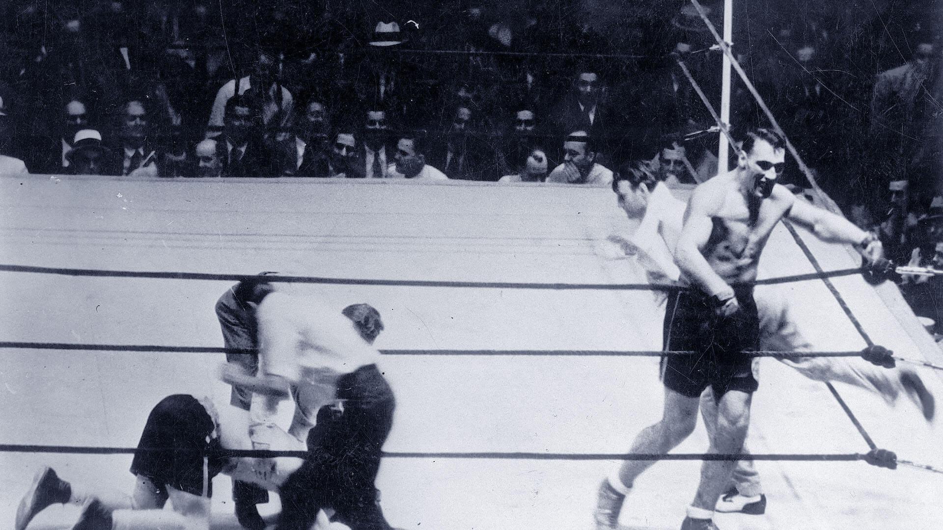 La foto di Primo Carnera contro Jack Sharkey il 29 giugno del 1933