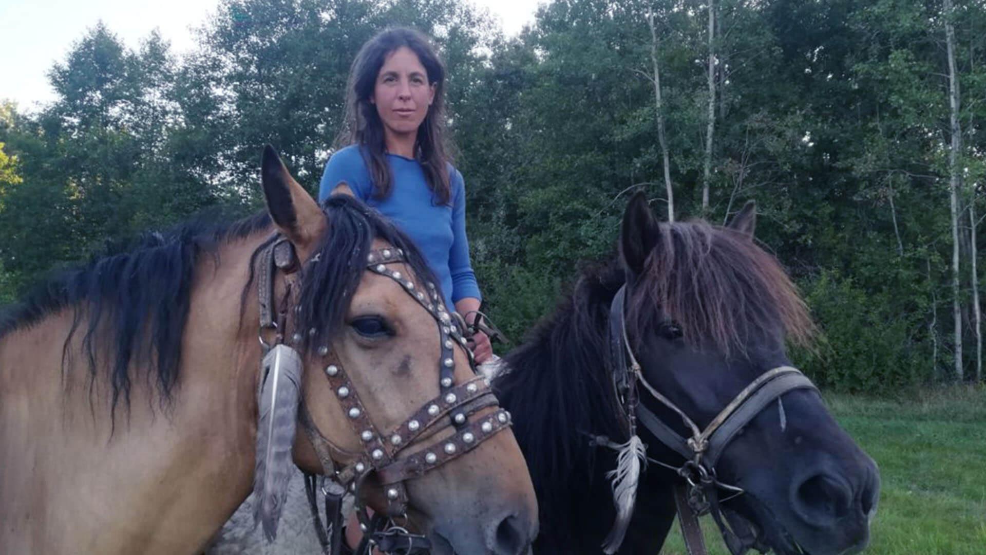 Viaggiare a cavallo è la passione di Paola Giacomini