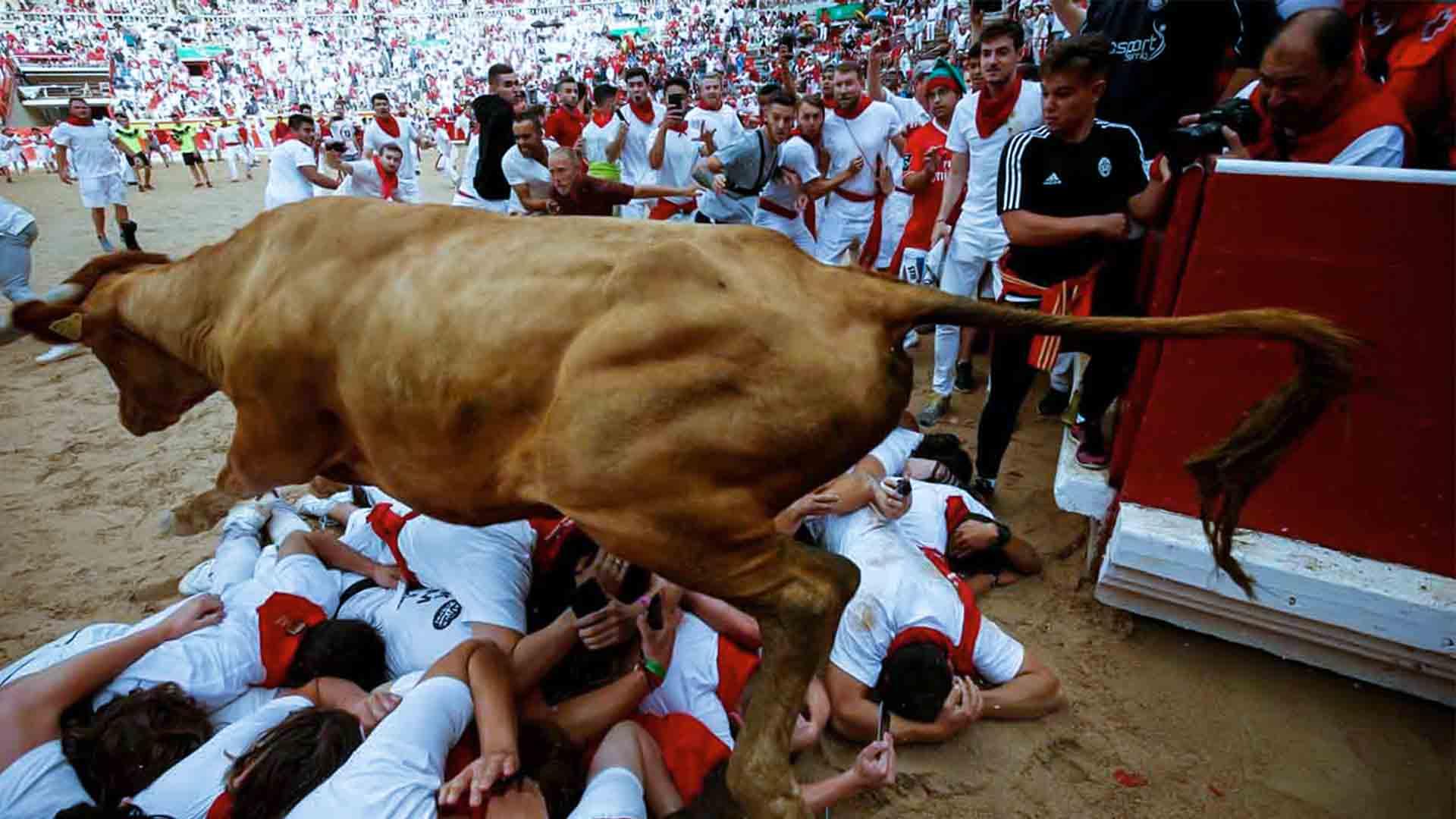 La festa di San Firmino è occasione della corsa dei tori di Pamplona