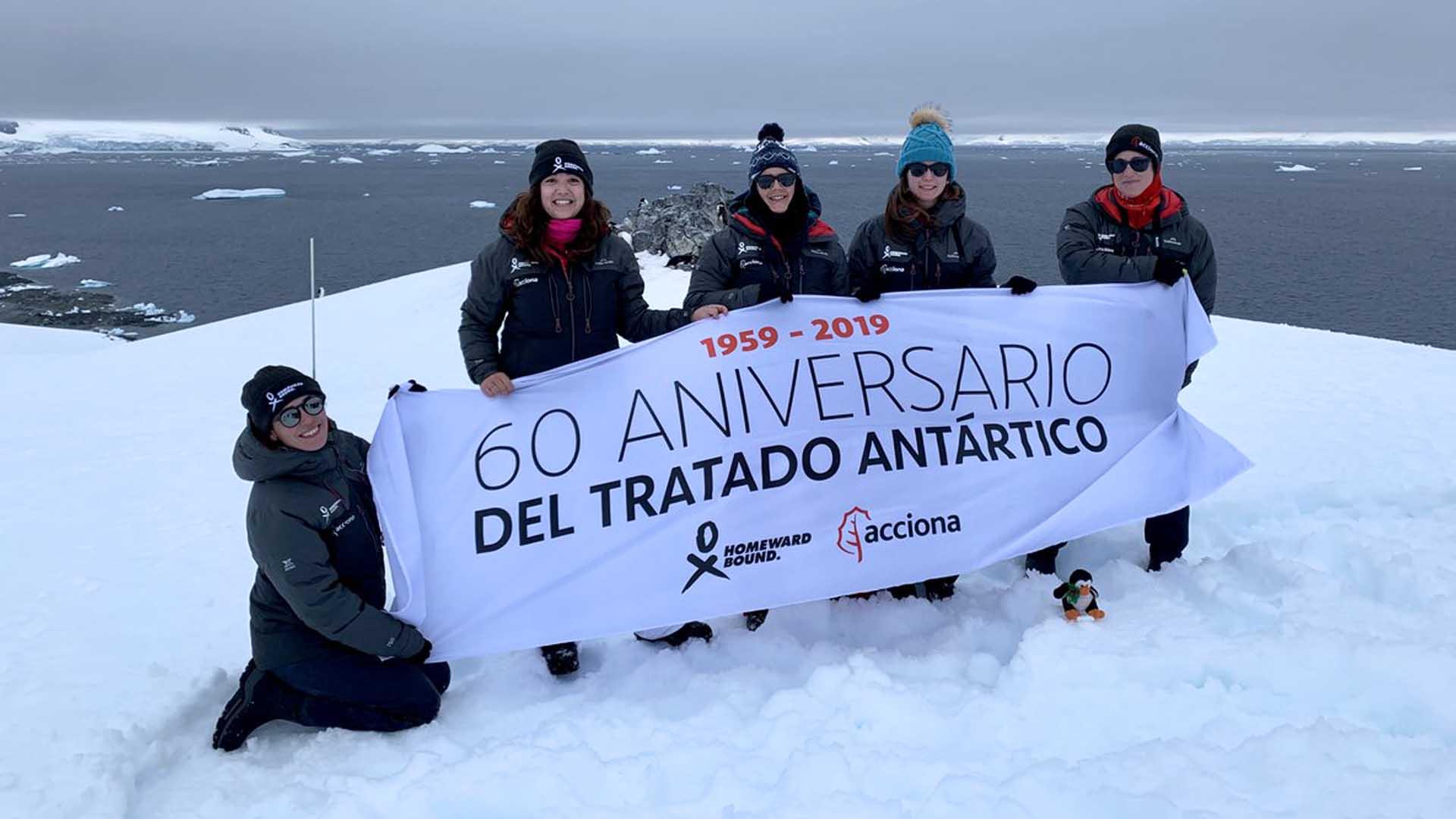 Donne e scienziate con Marga Gual Soler in Antartide