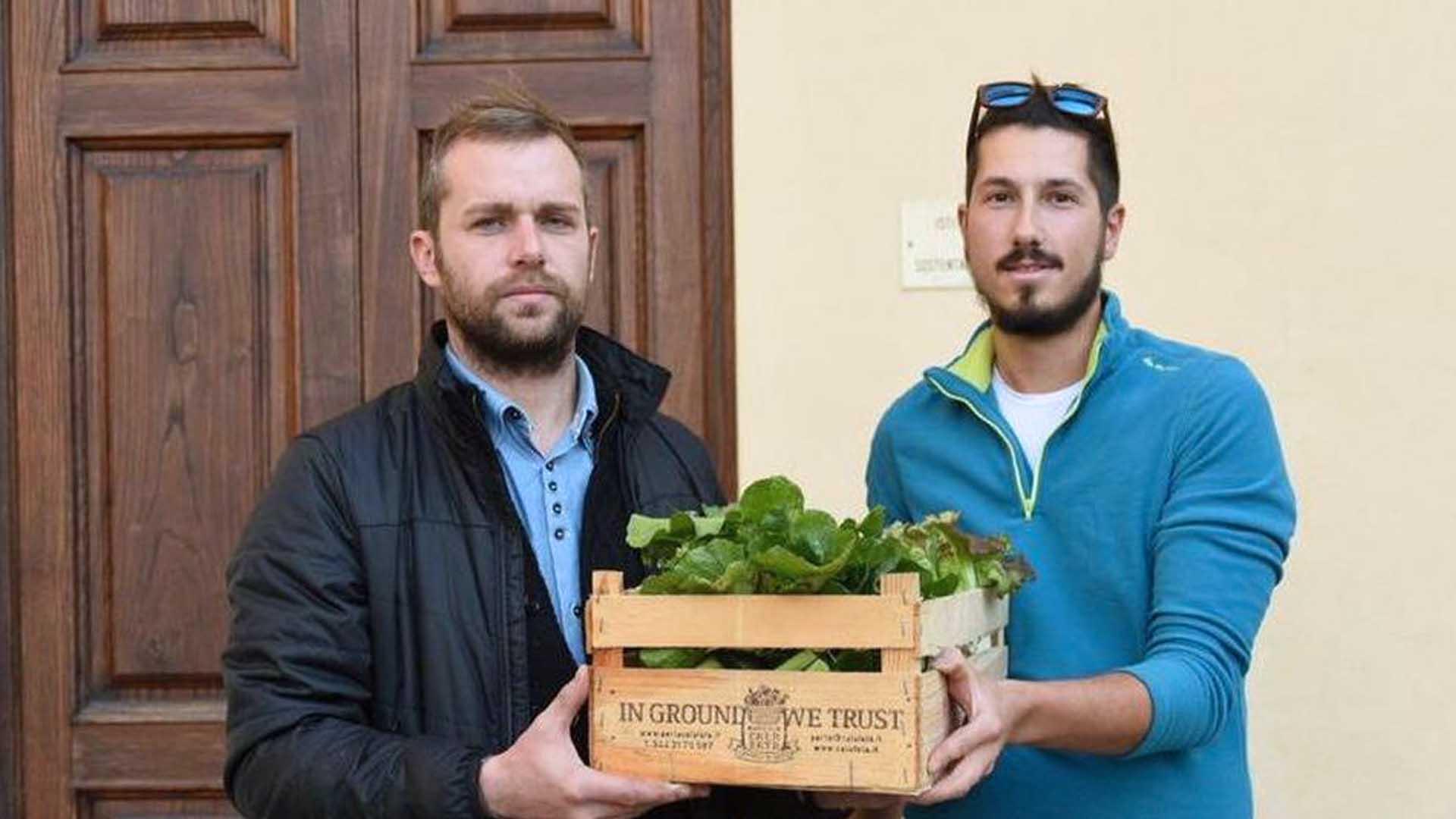 Marco Žilijak e Luca Angeli sono due giovani agricoltori (Foto Sernacchioli)