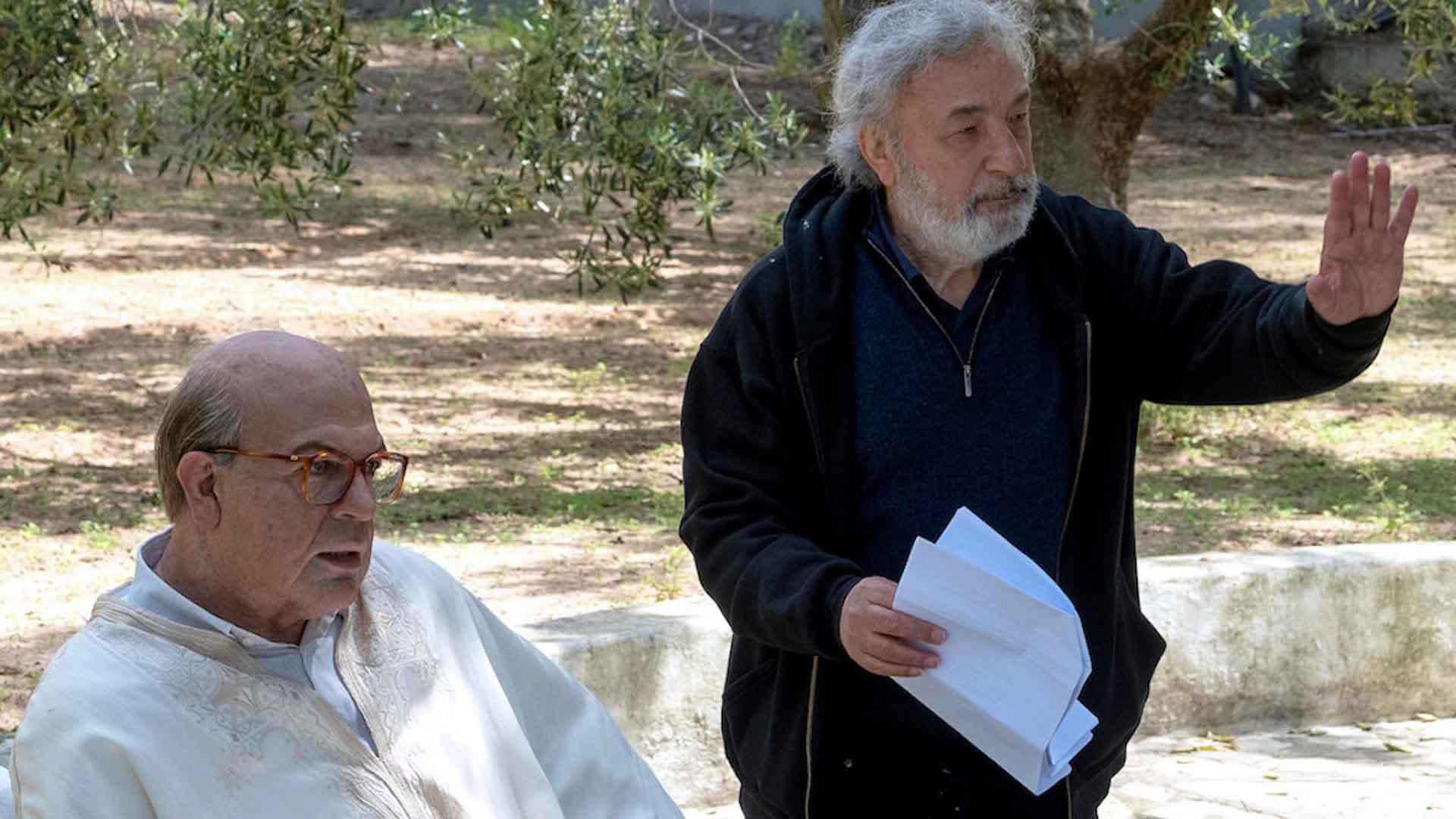 Gianni Amelio e Pierfrancesco Favino sul set di Hammamet