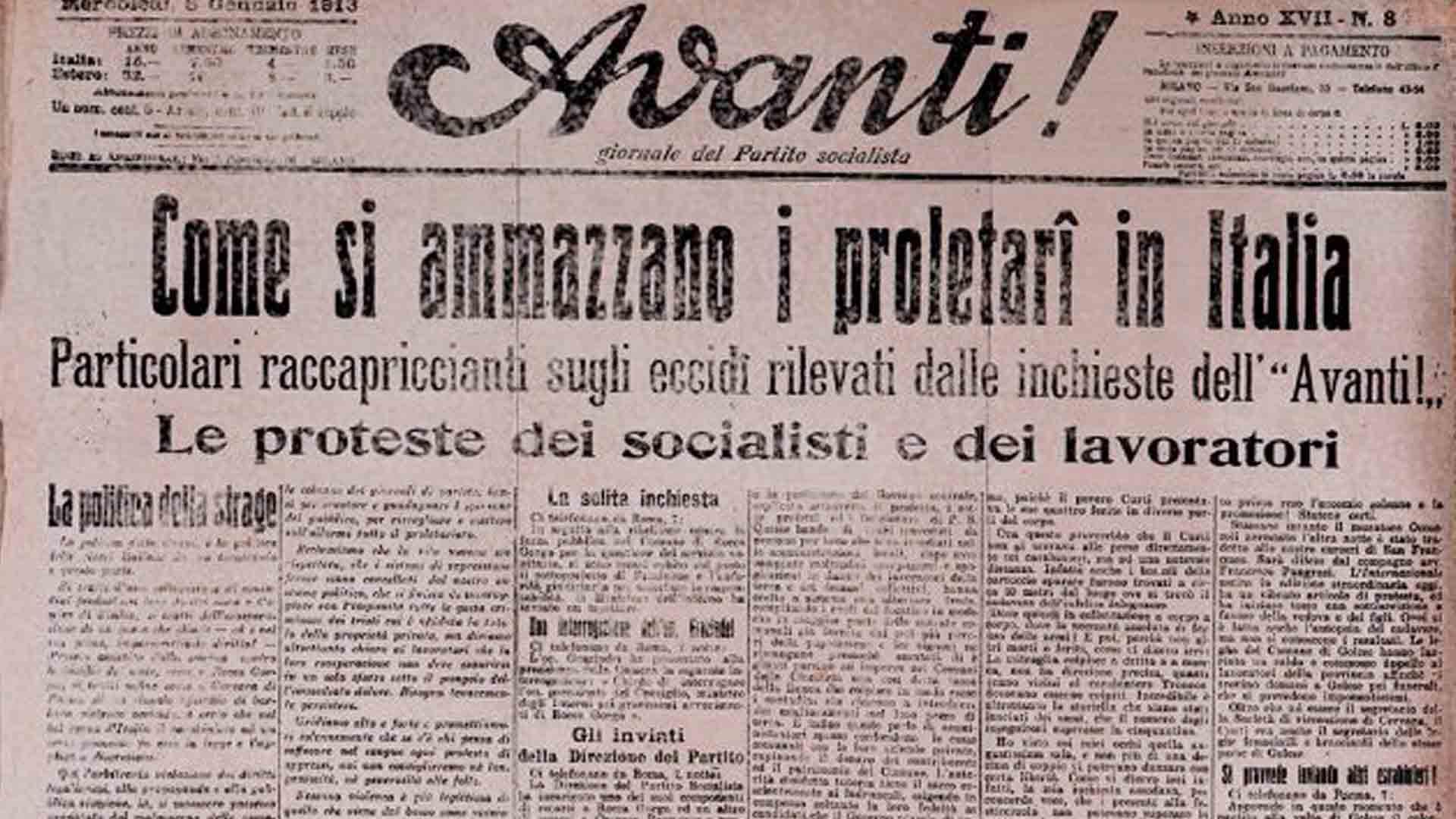 Nel 1915 Antonio Gramsci entrò all