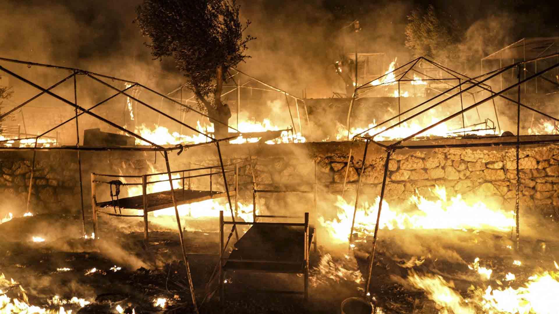 campo profughi grecia incendio