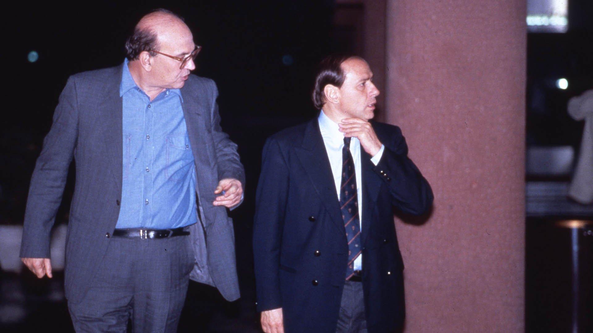 Craxi e Berlusconi negli anni Ottanta