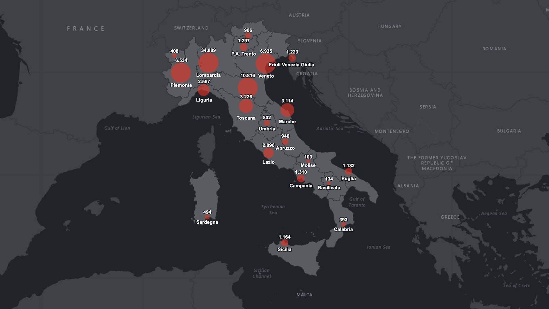 I dati italiani del 27 marzo