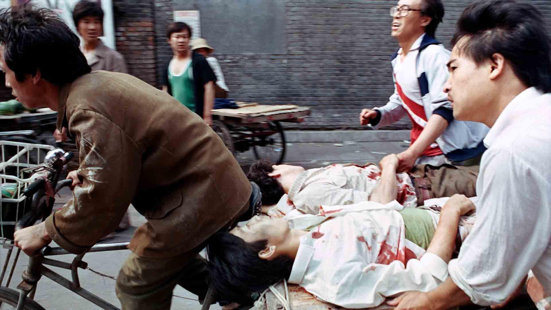 I feriti degli scontri del 1989 a Pechino