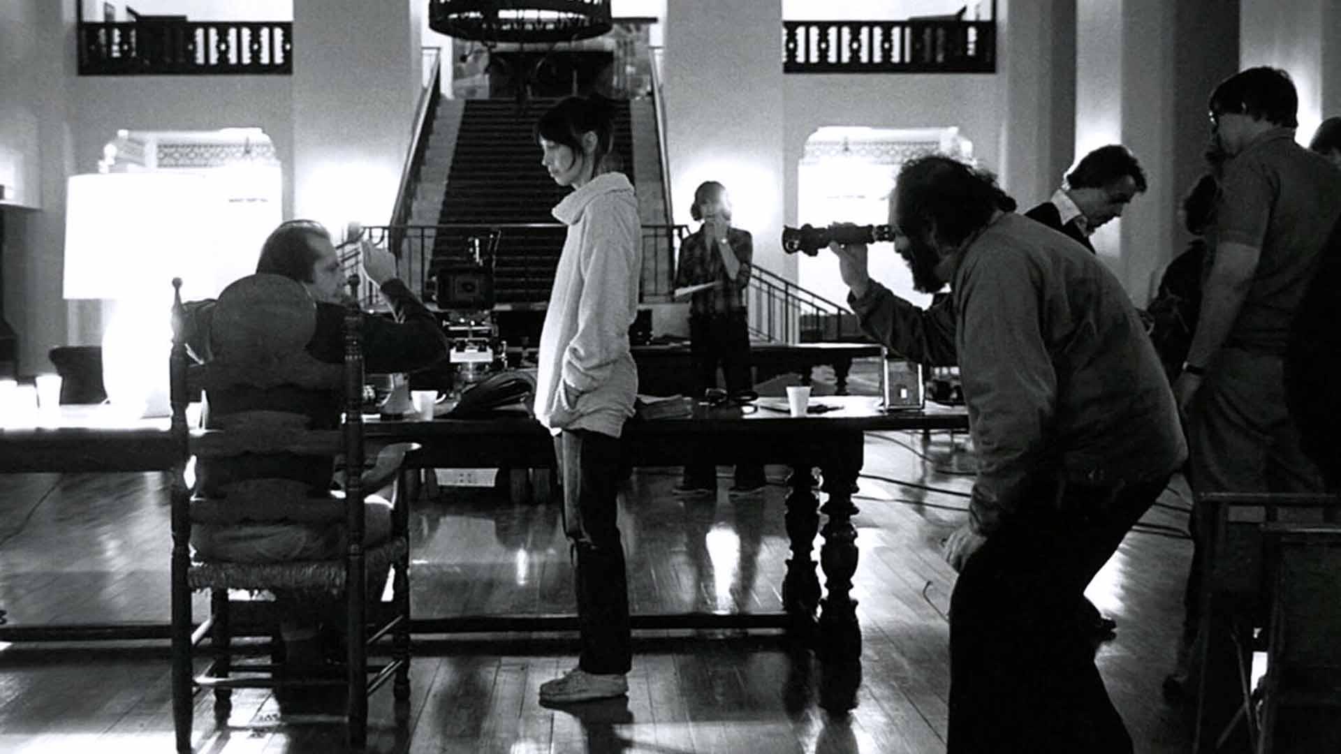 Jack Nicholson, Shelley Duvall e Stanley Kubrick sul set di Shining