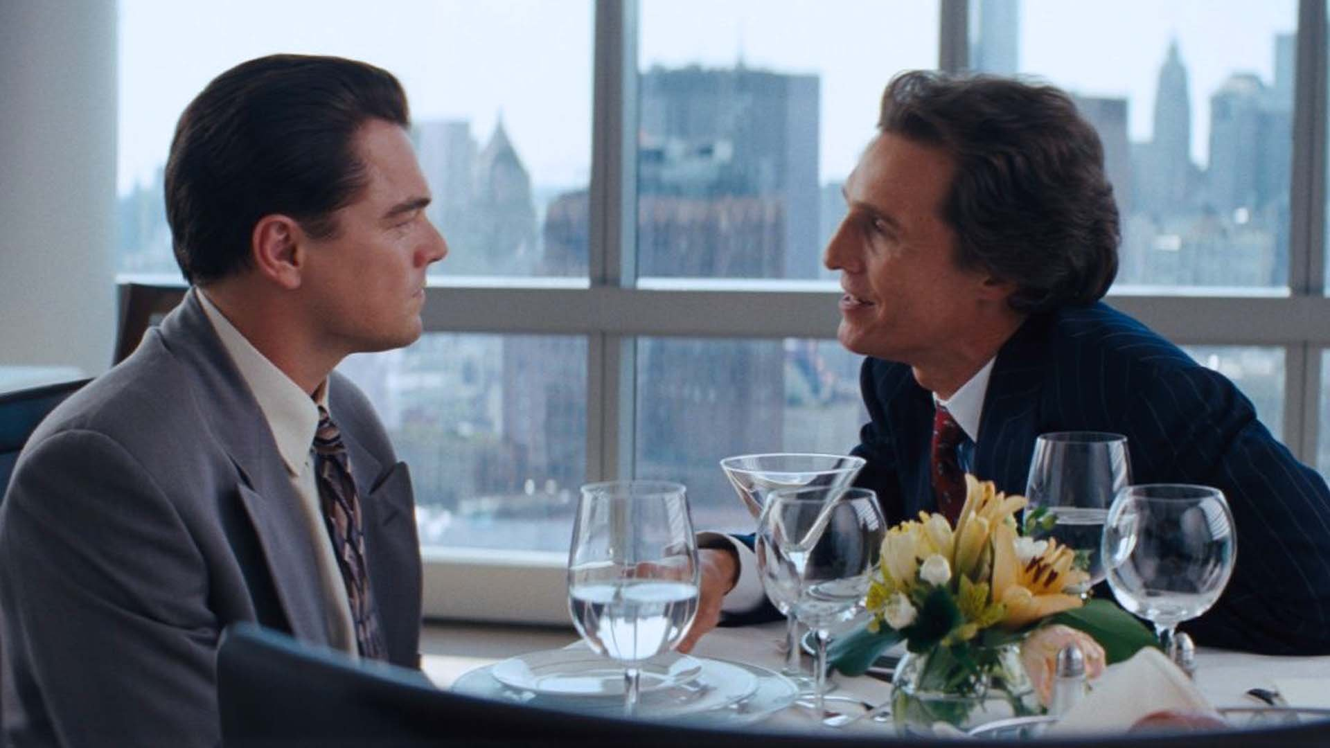 Leonardo DiCaprio e Matthew Mcconaughey in The Wolf of Wall Street