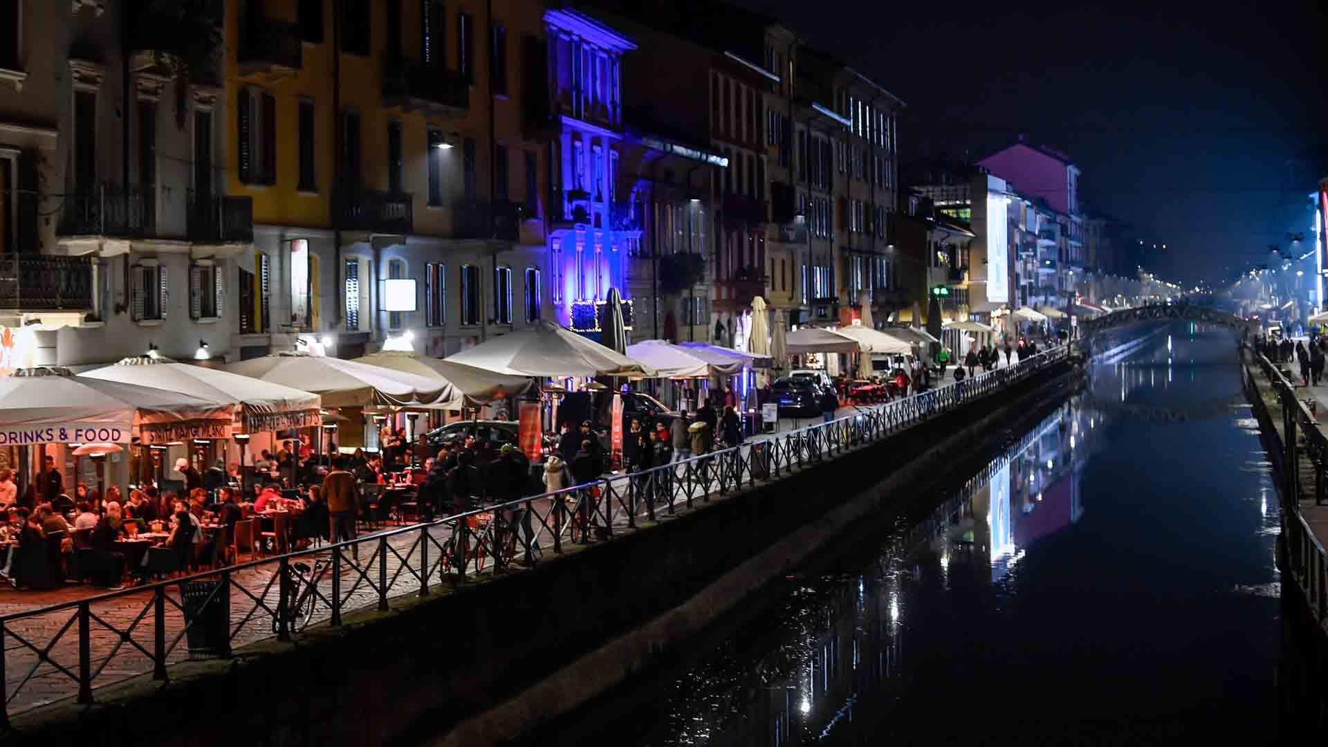 I Navigli sono il centro della movida di Milano