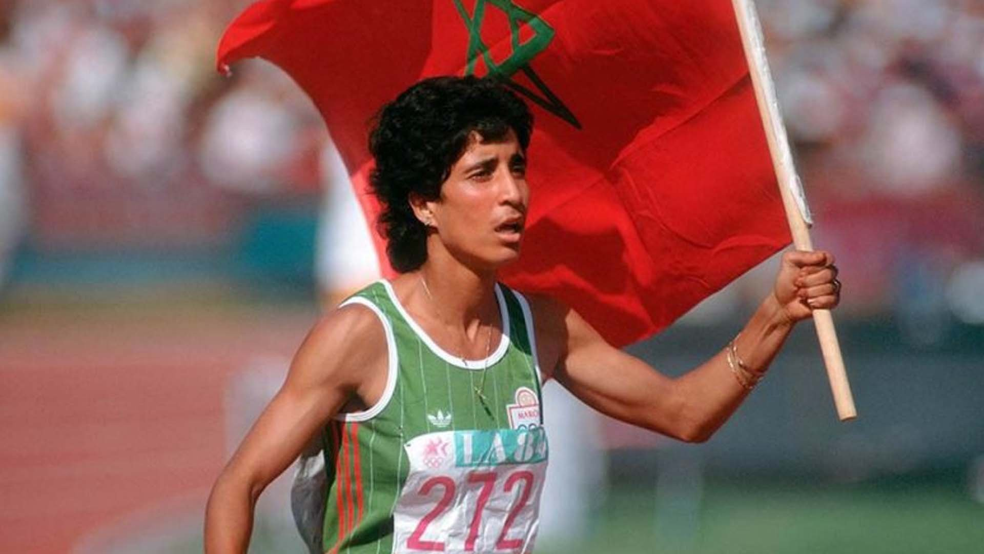 Nawal el Moutawakel alle Olimpiadi del 1984