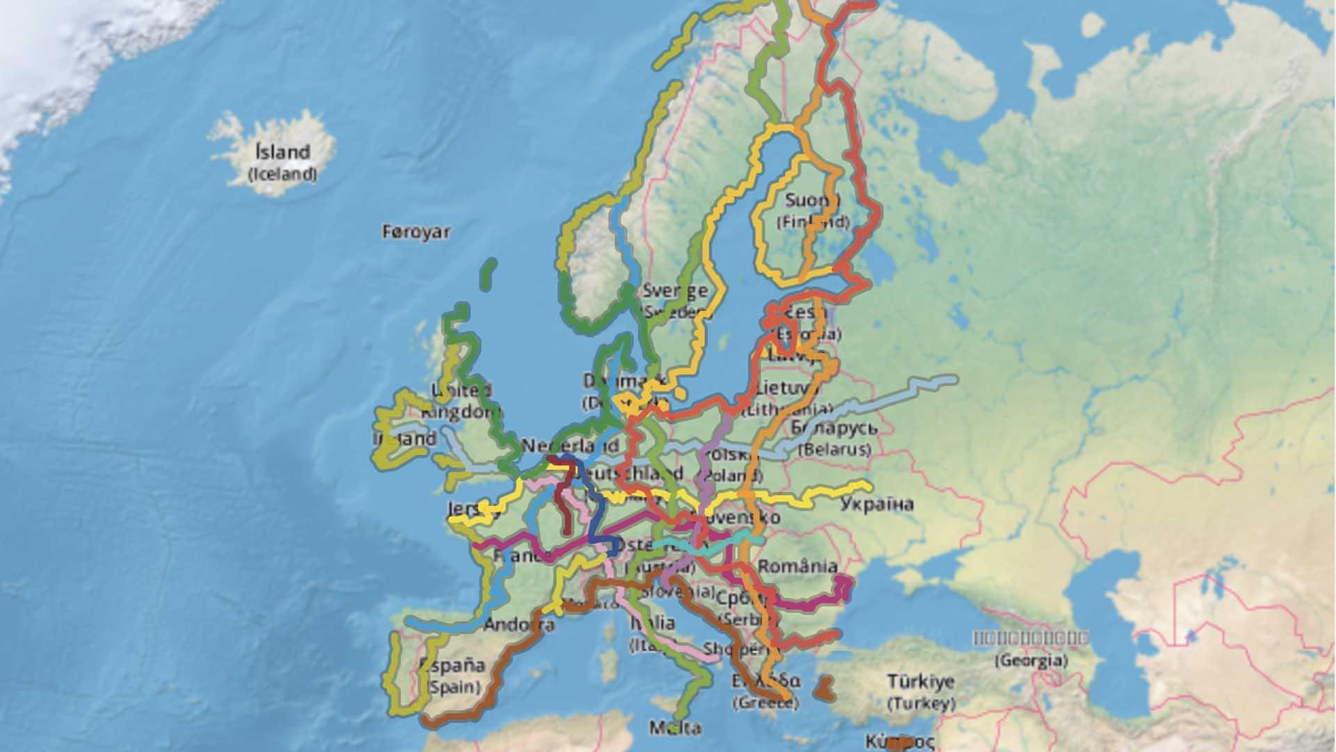 Il progetto Eurovelo