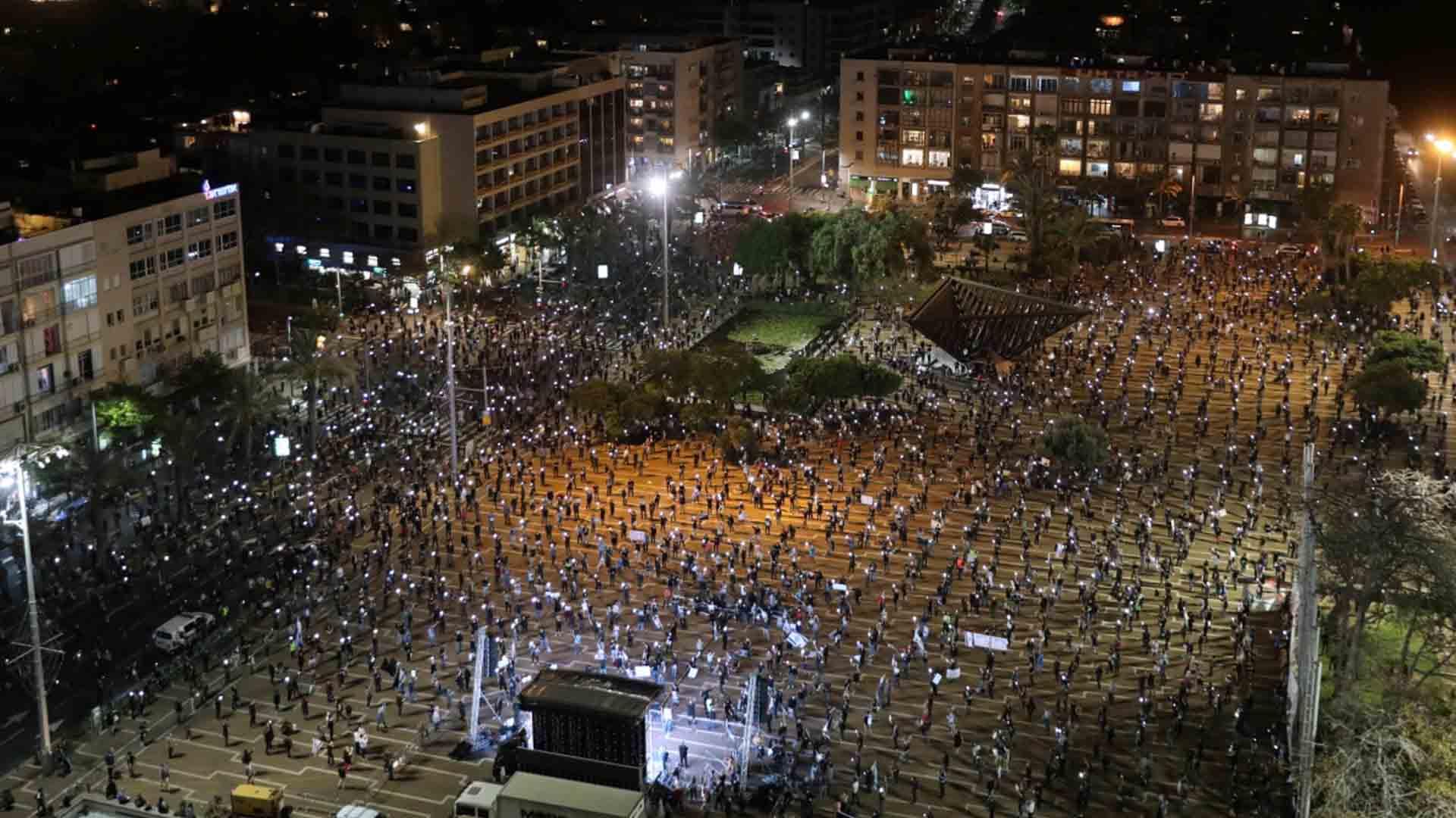 La protesta a distanza di Tel Aviv