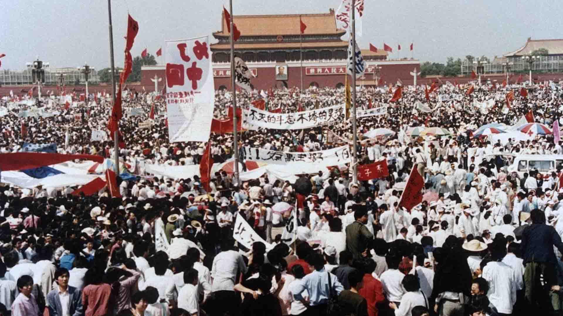 Le proteste in Piazza Tienanmen