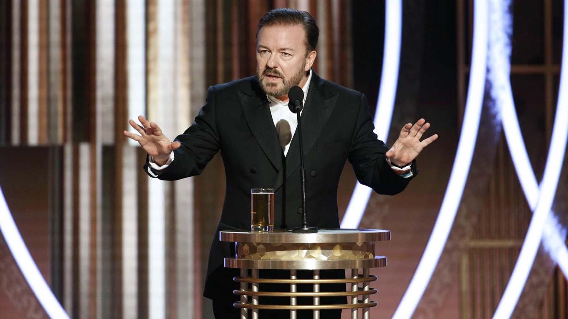 Ricky Gervais ai Golden Globes