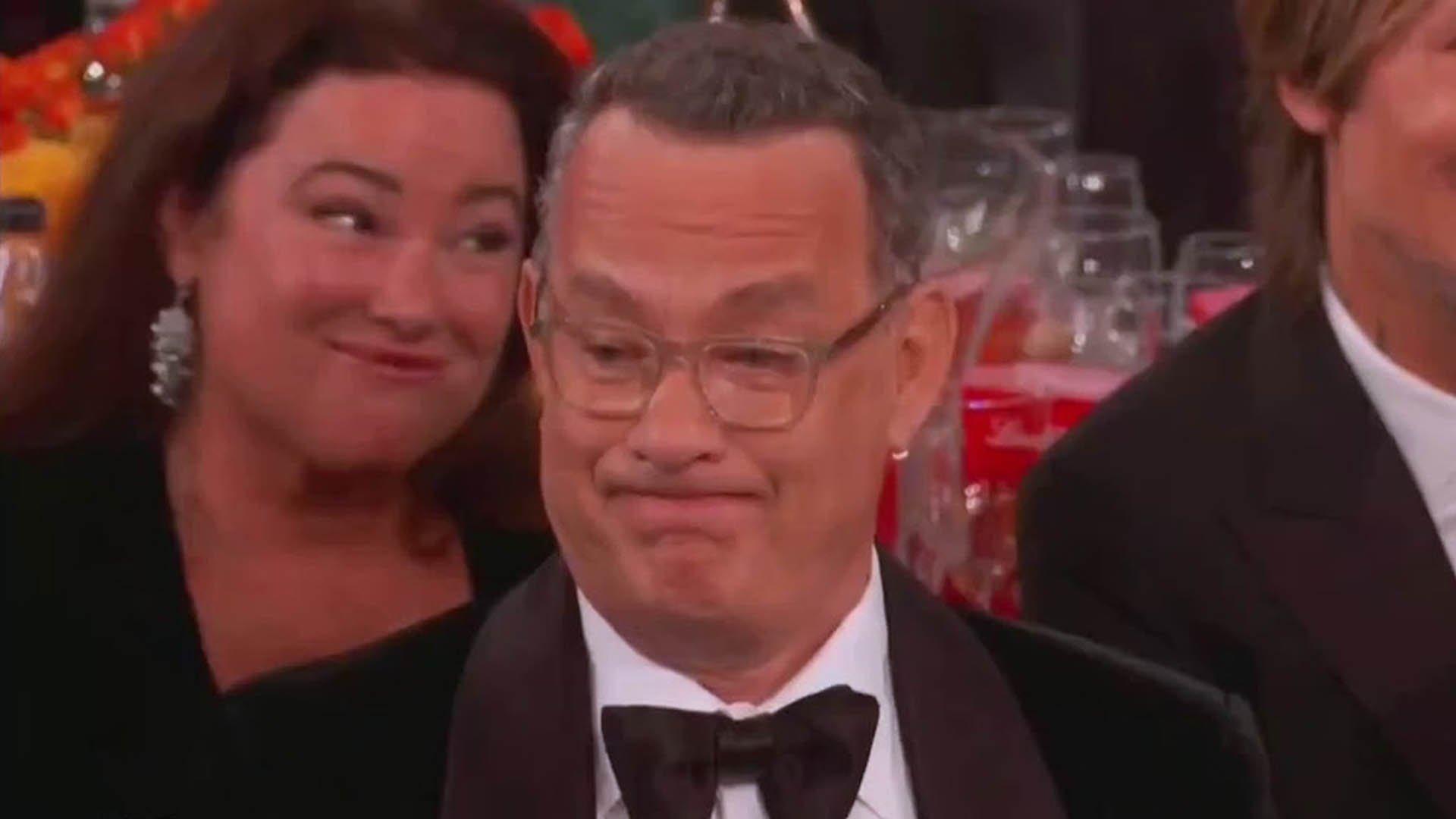 La reazione di Tom Hanks alle battute di Ricky Gervais