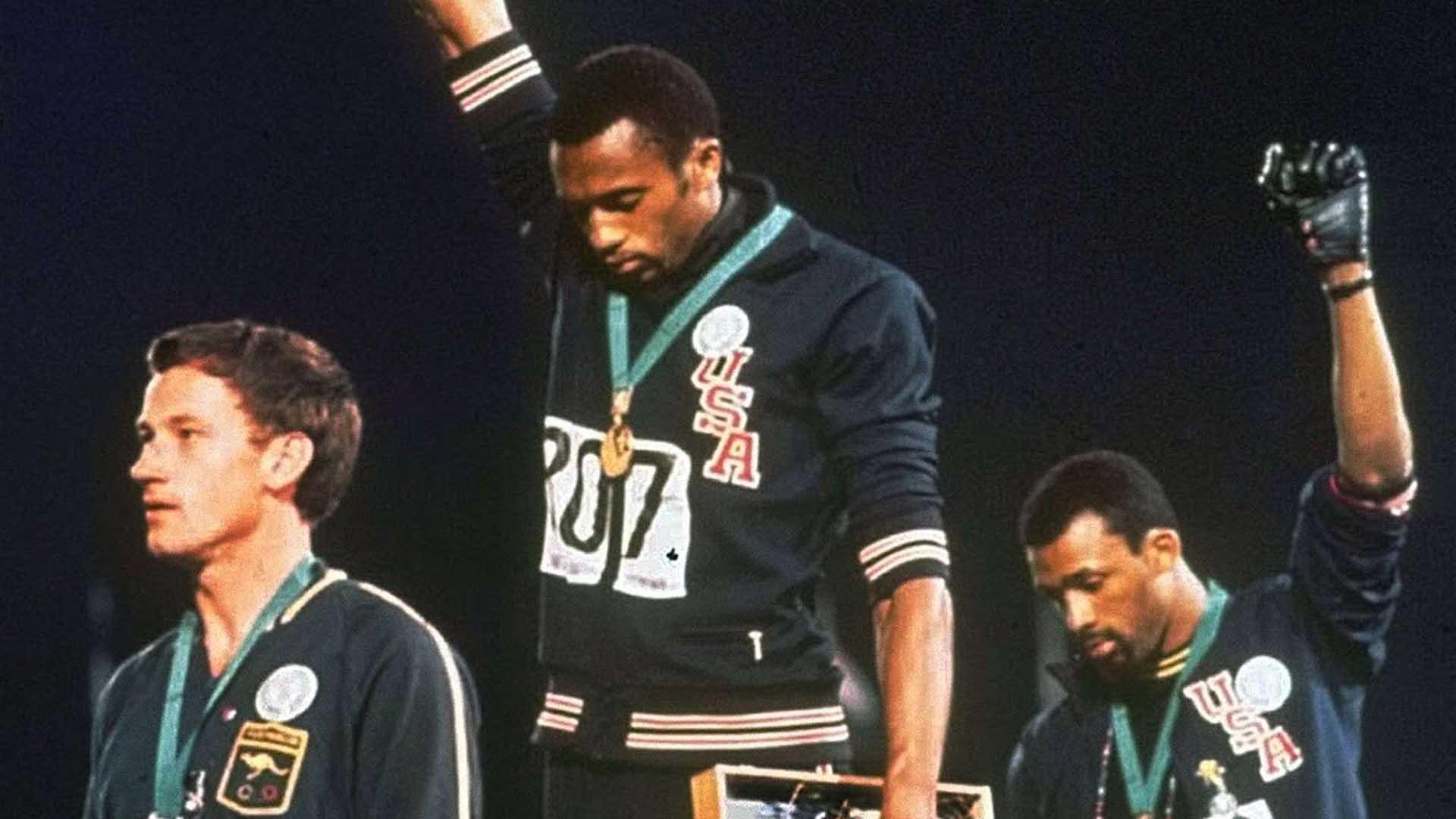 Tommie Smith e John Carlos alle Olimpiadi del 1968