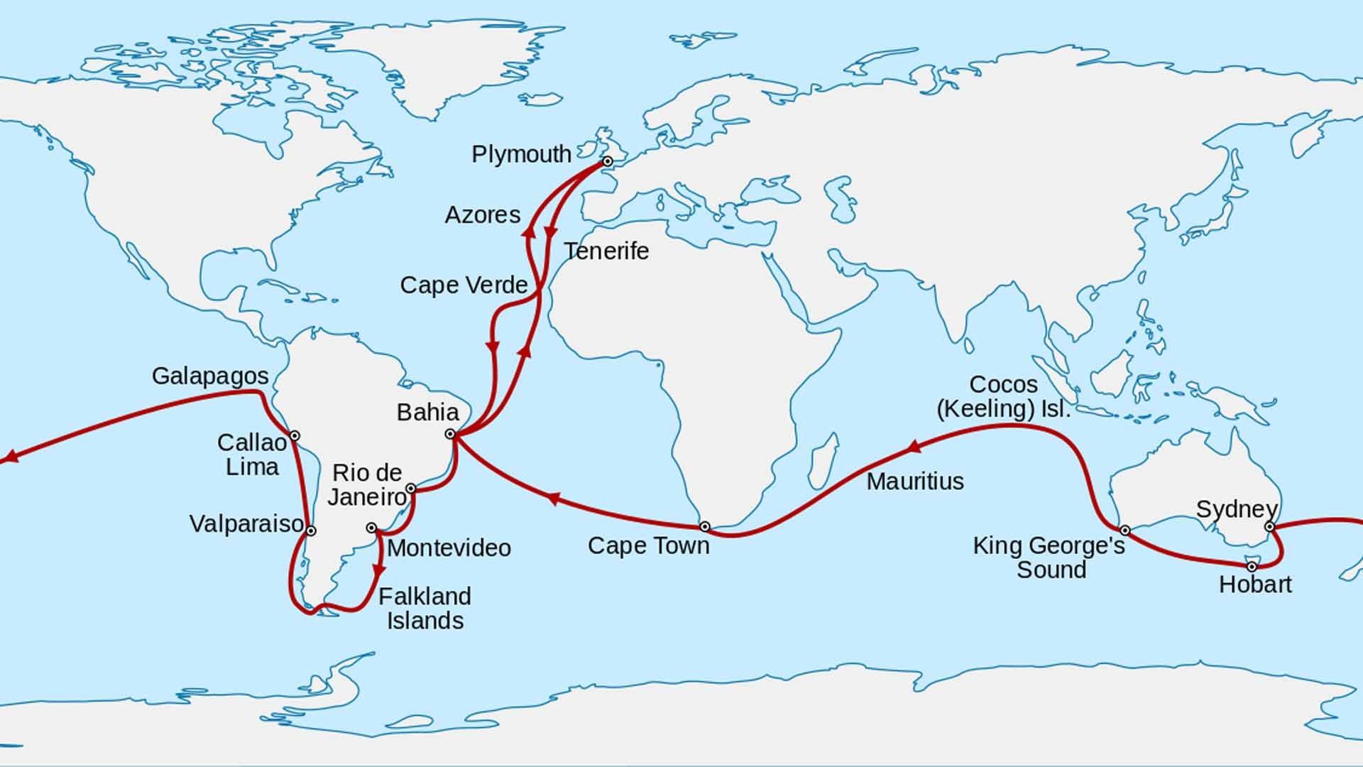 Il viaggio di Charles Darwin sul Beagle