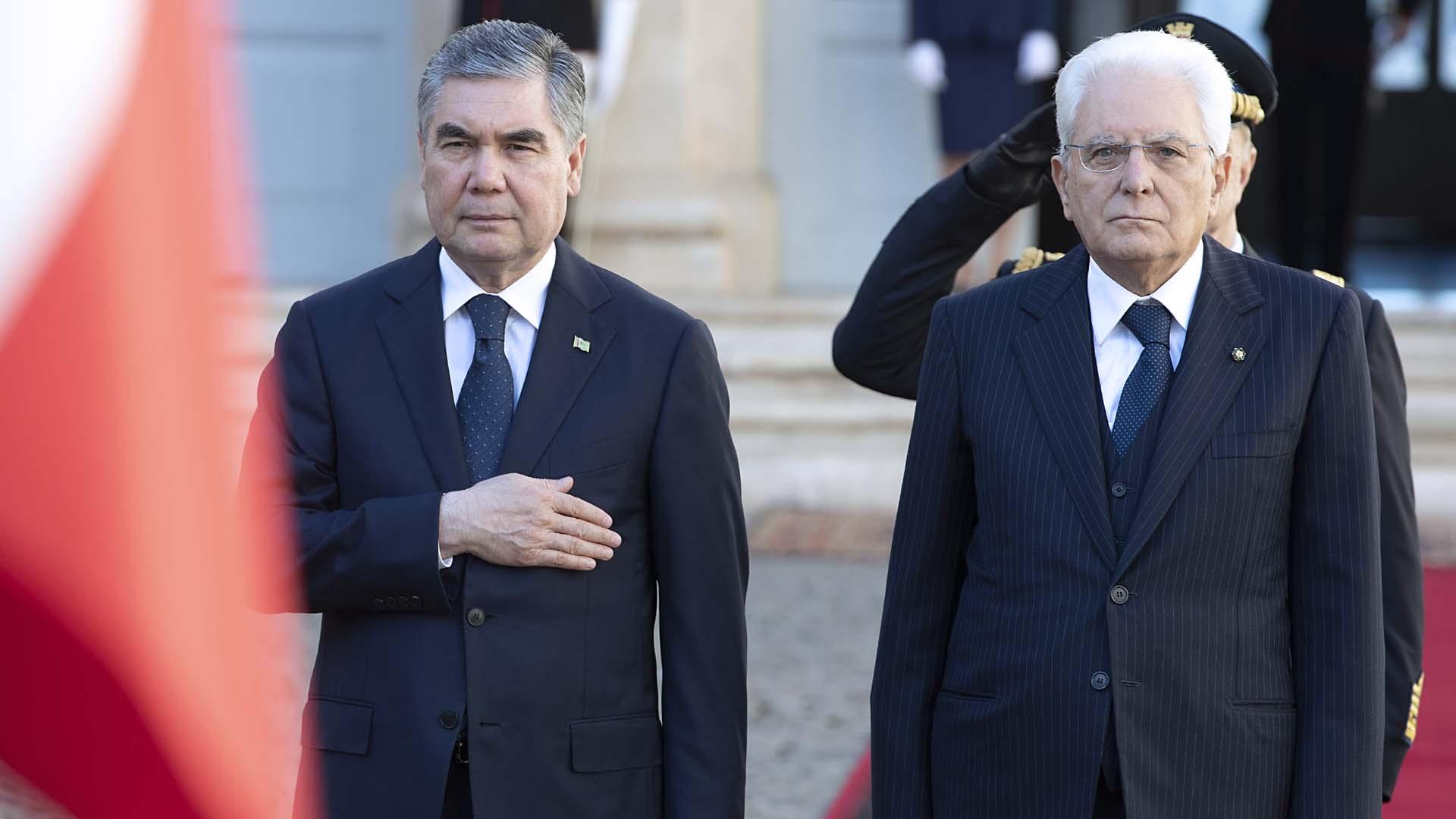 La visita in Italia del presidente del Turkmenistan